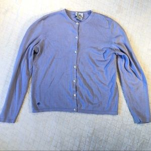 Lilly Pulitzer vintage periwinkle cardigan/ M